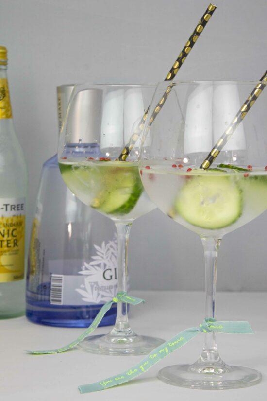 gin tonic glas versieren