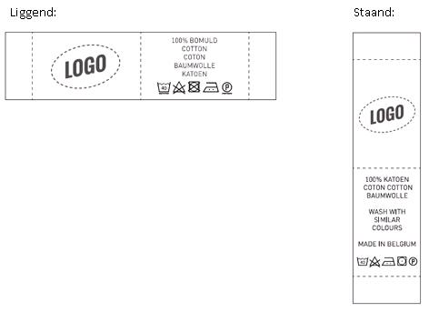 Liggend en staand label