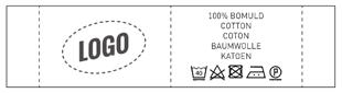 Label met logo en wassymbolen - Nominette