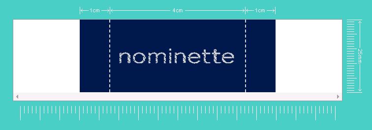 Simulatie label met logo