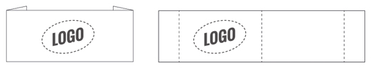 Label with end fold and middle fold