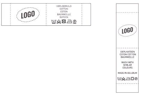 Label with logo landscape and portrait