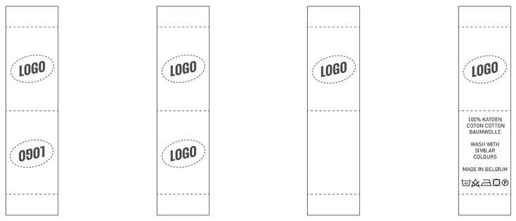 Vertical label with middle fold