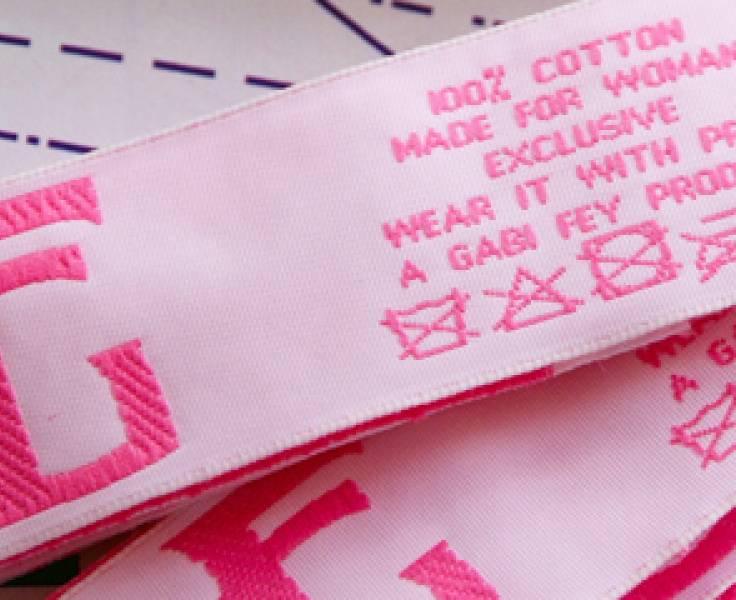 Beste Geweven kleding merklabels, instrijklabels, innaailabels, geweven DP-37